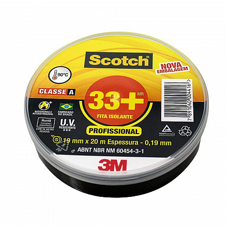 FITA ISOLANTE SCOTCH 33+ 19MM DE LARGURA